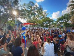 صورة من حفل افتتاح الحديقة العامة القديمة الجديدة بجانب المركز الثقافي