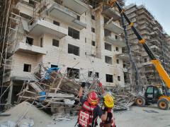 انهيار سقالة بورشة بناء في بيت شيمش قضاء مدينة القدس