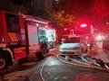 اندلاع حريق كبير في حي روميما القدس في عدد من البنايات السكنية קומפלקס
