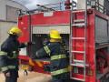 """وادي سلامه .حريق شب فجر اليوم في مكتب بالركز الجماهيري מתנ"""" ס"""