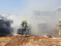 كفرياسيف: اندلاع حريق بسيارات في مجمّع للخردة*