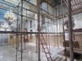 كنيسة المخلص للروم الكاثوليك في كفرياسيف تتزين بطلاء جدران الكنيسة