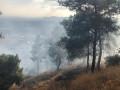 حريق شبّ بمنطقة حرشية في دبورية - جبل الطور.