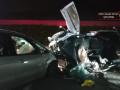 حادث طرق بين سيارتين بالقرب من بردس حنا