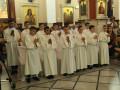 مناولة احتفالية في كنيسةبطرس وبولس للروم  الكاثوليك شفاعمرو