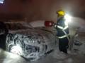 .حريق كبير شب فجر اليوم في محل لبيع السيارات