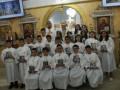 الاحتفال بالمناولة الأولى لاطفال كنيسة الروم الملكيين الكاثوليك في كفرياسيف
