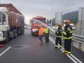 حادث طرق بين شاحنتين على شارع 75 بالقرب من طبعون