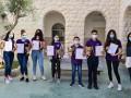 """تألُق وفوز مدرسة """"العين"""" الإعدادية في مسابقة اللغة الإنجليزية القطرية"""