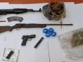 ضبط: سلاح قناصين, كالاتشنيكوف, مسدس, قنابل يدوية ومخدرات.*