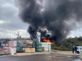انفجار في ورشة لتصليح شاحنات لنقل الغاز في المنطقة الصناعية طمرة