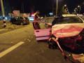 حادث بين مركبتين خاصتين عند تقاطع تسروفا على الطريق 4.