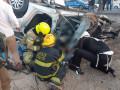مصرع ٣ فلسطينين على مفترق تبوح شارع رقم ٥٠٥ . جراء حادث طرق